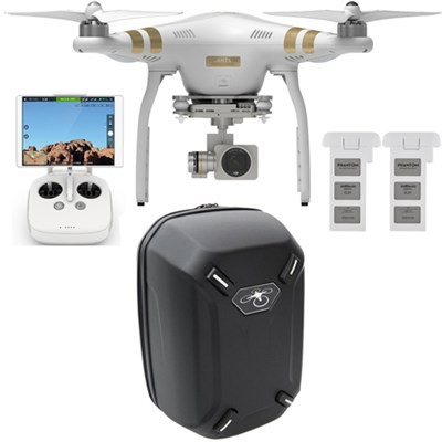 Phantom 3 Professional Quadcopter Drone w/ 4K Camera + Backpack & Extra Battery