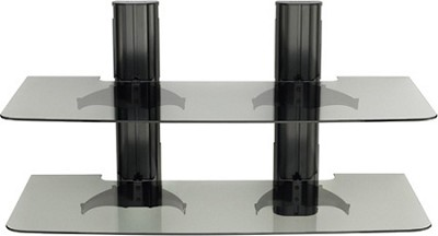 VF2022 - Vertical A/V Series Double Column 2-shelf on-wall component shelving