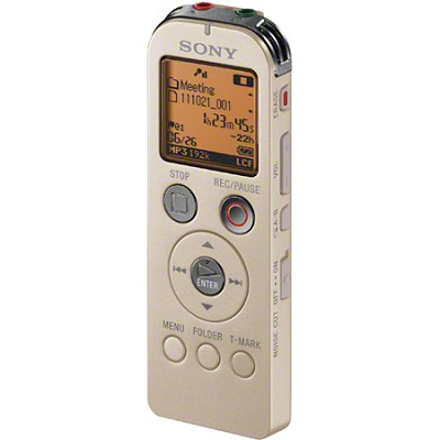 ICD-UX523/G Digital Flash Voice Recorder (Gold)