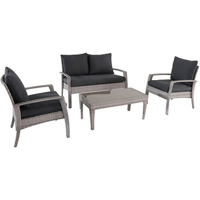 4pc Seating Set: Loveseat 2 side chairs coffee table