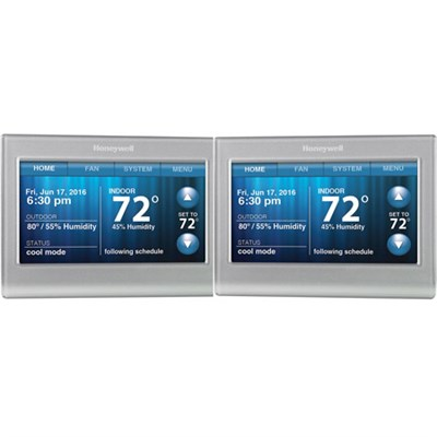 Wi-Fi 9000 Touchscreen Thermostat 2-Pack - Silver