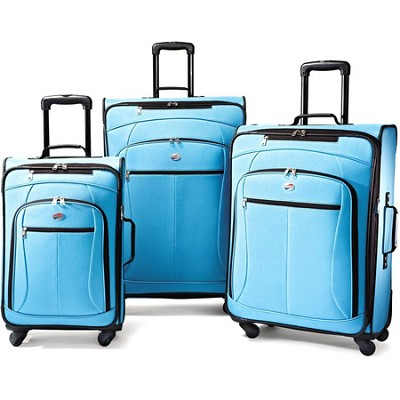 AT Pop 3 Piece Spinner Luggage Set (Aqua Blue)
