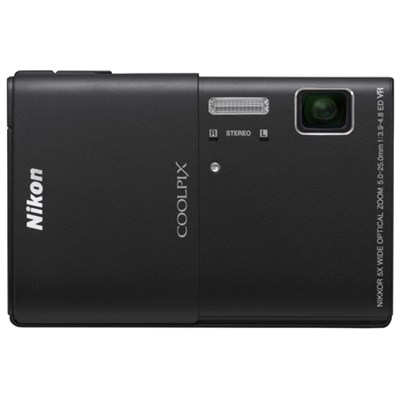 COOLPIX S100 16MP Black Compact Digital Camera w/ 3.5in Touch Screen Refurbished