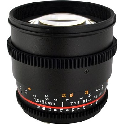 85mm T1.5 Aspherical Cine Lens for Sony Alpha Mount