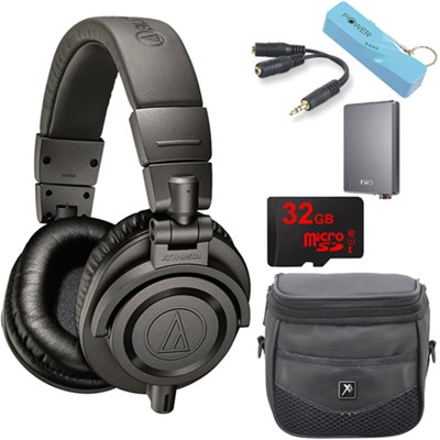 ATH-M50xMG Limited Edition Professional Studio Monitor Headphones A5 Amp Bundle