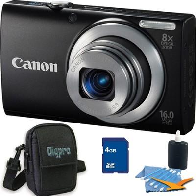 PowerShot A4000 IS 16MP Black Digital Camera 4GB Bundle