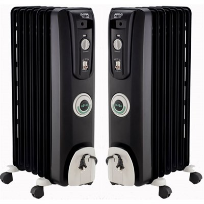 2 Pack Safeheat 1500W ComforTemp Portable Oil-Filled Radiator Heater - EW7707CB