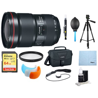 EF 16-35mm f/2.8L III USM Ultra Wide Angle Zoom Lens & Multi Accessories Bundle