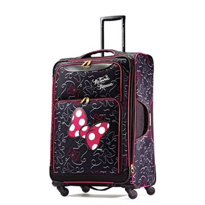 67615-4754 28` Softside Spinner - Minnie Mouse Red Bow