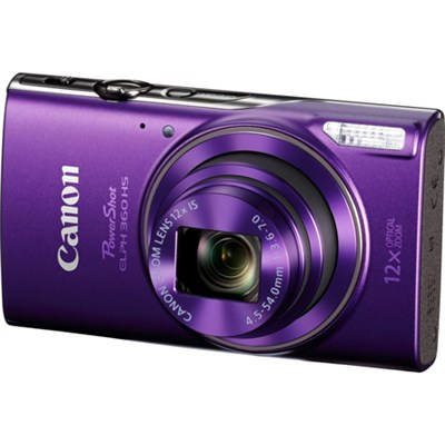 PowerShot ELPH 360 HS Digital Camera with 12x Optical Zoom + Wi-Fi - Purple