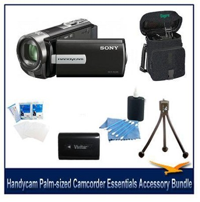 DCR-SX65 Handycam Black 4GB Camcorder with Spare Batt, Case and More