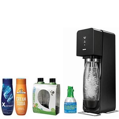 Source Home Soda Maker Starter Kit, Black with Soda Maker Bundle