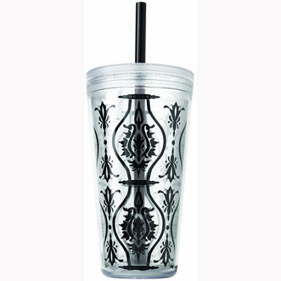24-Ounce Minimus Damask Tumbler, Black (2510-0261)