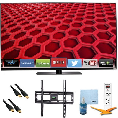 E550i-B2 - 55` LED Smart HDTV 1080p Full HD 120Hz Plus Mount & Hook-Up Bundle