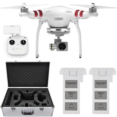 Phantom 3 Standard Quadcopter Drone w/ 2.7K Camera + Extra Battery and Hard Case