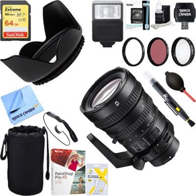 28-135mm FE PZ F4 G OSS Full-frame Power Zoom Lens + 64GB Ultimate Kit