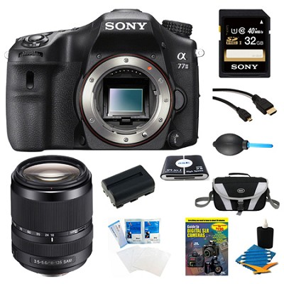 a77II 24.3MP HD 1080p DSLR Camera 18-135mm Lens Bundle