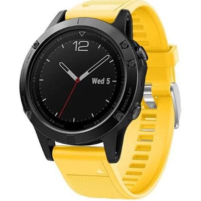 Silicon Wrist Band for Garmin Fenix 5 - Yellow