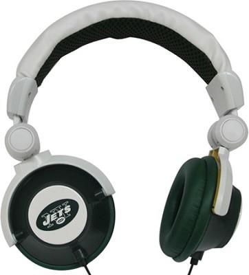NFL Football Licensed New York Jets DJ Style Headphones