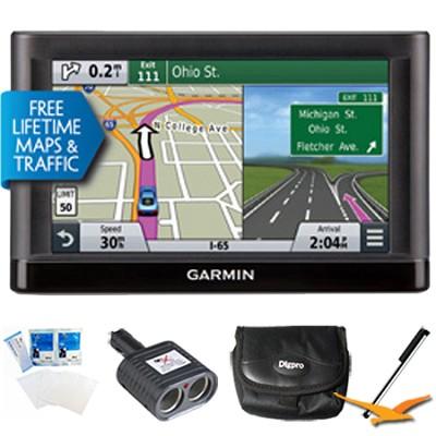 Nuvi 65LMT Essential Series GPS Nav Lifetime Maps 6` Display Essentials Bundle