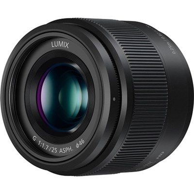 Lumix G 25mm f/1.7 ASPH. Lens (Black) - H-H025K - OPEN BOX