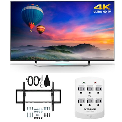 XBR-49X830C - 49-Inch 4K Ultra HD Smart LED HDTV Flat & Tilt Wall Mount Bundle