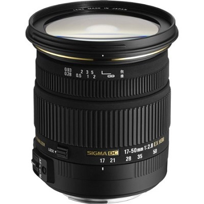 17-50mm f/2.8 EX DC OS HSM FLD Standard Zoom Lens for Canon DSLR Camera