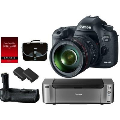 EOS 5D Mark III 22.3 MP Full Frame CMOS Digital SLR w/ 24-105mm Lens Pro Kit