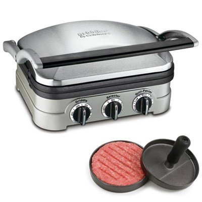 Multifunctional Griddle, Grill and Panini Press + Burger Patty Maker