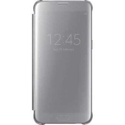 Samsung Galaxy S7 edge Case S-View Clear Flip Cover - Silver