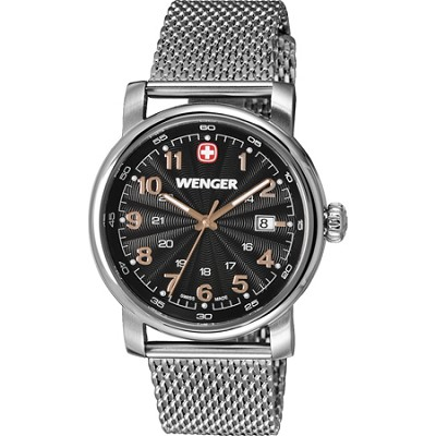 Men's Urban Classic Swiss Army Watch - Black Dial/Stainless Steel Bracelet