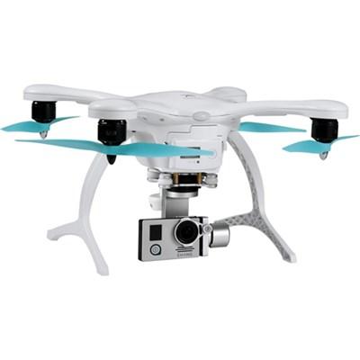 GhostDrone 2.0 Aerial Drone - White/Blue 1 Yr Crash Coverage Included - OPEN BOX