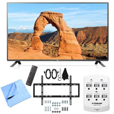 55LF6000 - 55-inch Full HD 1080p 120Hz LED HDTV Mount & Hook-Up Bundle