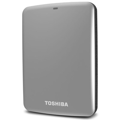 Canvio Connect 500GB Portable Hard Drive, Silver (HDTC705XS3A1)