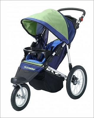 Free Wheeler Jogging Stroller (Green/Blue)
