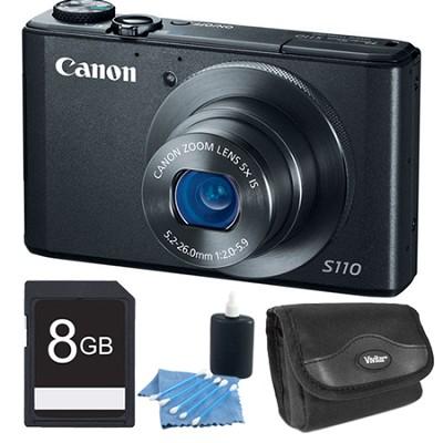 PowerShot S110 Black Compact High Performance Camera 8GB Bundle