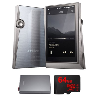 AK320 Hi-Res Portable Music Player w/ FiiO A5 Portable Headphone Amp Bundle
