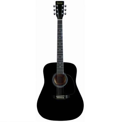 LA125BK Dreadnought Acoustic Guitar - Black