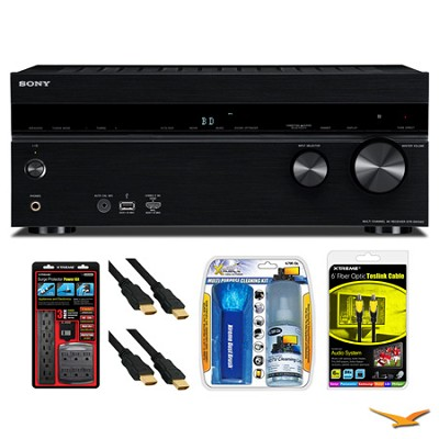 STRDN1040 Home Theater AV Receiver Surge Protector Bundle- OPEN BOX
