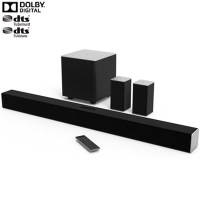 38` 5.1ch Bluetooth Sound Bar w/ Wireless Sub & Speakers - OPEN BOX