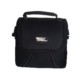 Compact Deluxe Gadget Bag for Cameras/Camcorders (Black) DP38-BEA