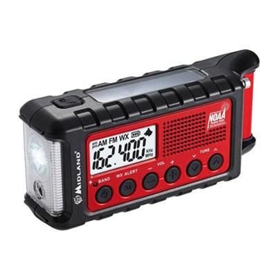 E+Ready Emergency Solar Hand Crank AM/FM Digital Weather Radio (ER310)