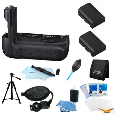 Ultimate BG-E9 Battery Grip Bundle for the Canon EOS 60D