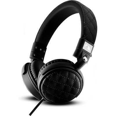 On-The Ear Stereo Headphones with Mic (Black) - NK600 Series