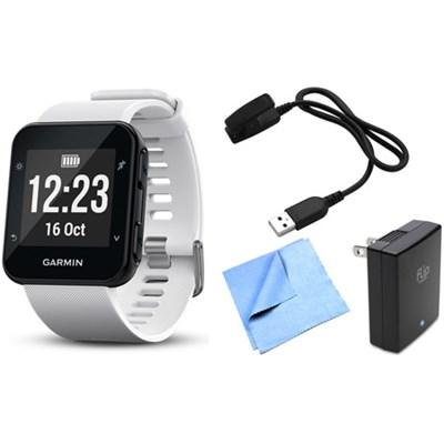 Forerunner 35 GPS Running Watch & Activity Tracker w/ Accessories Bundle - White