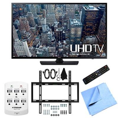 UN40JU6400 - 40-Inch 4K Ultra HD Smart LED HDTV Slim Flat Wall Mount Bundle