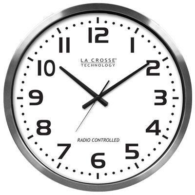 XL 20in Atomic Aluminum Clock
