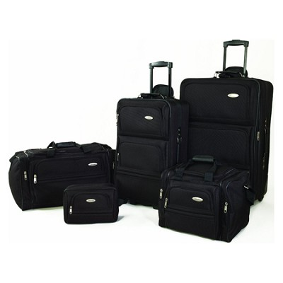 Samsonite Luggage 5 Piece Travel Set (Black)