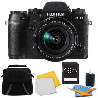 X-T1 16.3MP Full HD 1080p Video Mirrorless Digital Camera 18-55mm Lens 16GB Kit