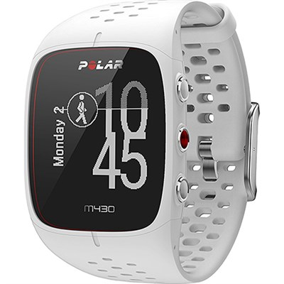 M430 GPS Running Watch, White/Small